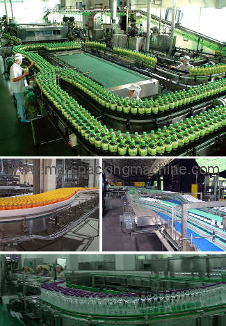 Filled Bottles Conveyor System